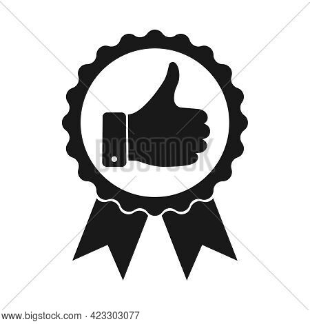 Recommend Graphic Icon. High Quality Sign Isolated On White Background. Premium Product Symbol Medal