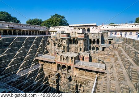 Bandikui Rajasthan India On January 17th 2017: Image Of Chand Baori A Historical Step Well. It Is Th