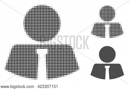 Mister Halftone Dotted Icon. Halftone Array Contains Circle Points. Vector Illustration Of Mister Ic