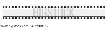 Cinema Strip Templates. Negative And Strip, Media Filmstrip. Film Roll Vector, Film 35mm, Slide Film