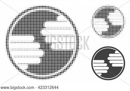Hands Circle Halftone Dotted Icon. Halftone Pattern Contains Circle Dots. Vector Illustration Of Han