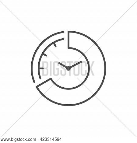 Time Period Line Outline Icon Isolated On White