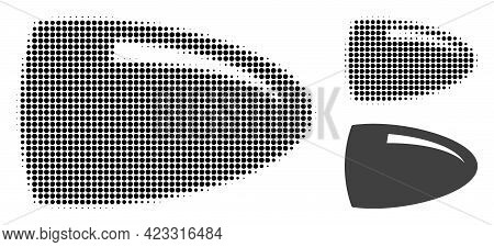 Bullet Halftone Dotted Icon. Halftone Array Contains Round Points. Vector Illustration Of Bullet Ico