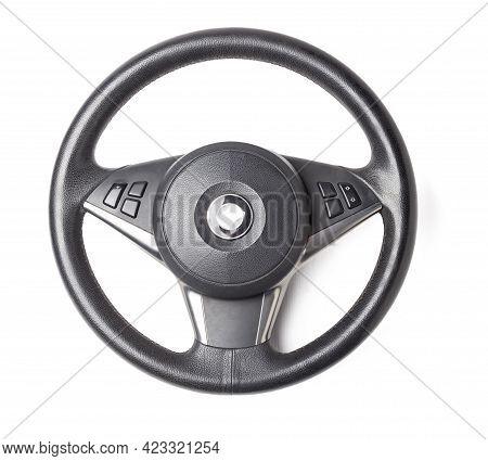 Multifunction Leather Steering Wheel - Isolated