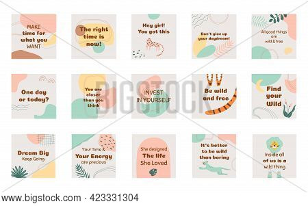 Social Media Post Banner Square Layout Templates For Social Media, Mobile Apps Or Banner Design. Soc