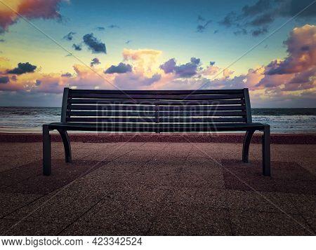 Empty Boardwalk Carrasco Beach, Montevideo