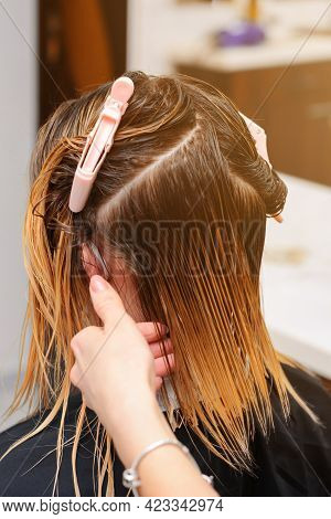 Haircut In A Barbershop, Beauty Salon And World Quarantine, Business During Quarantine.
