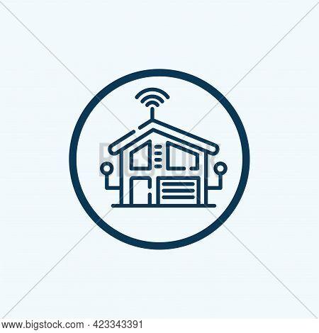 Smart Home Logo. Smart Home Connection Icon Logo Vector Design Illustration.