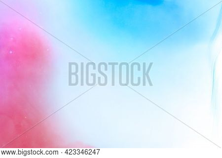 Bright Creative Fluid Spatters Flat Graphic. Pink Textured Classic Template Mixed Fluid Acrylic. Vib
