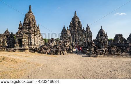 Yogyakarta, Indonesia - 09 September 2018: Prambanan Or Rara Jonggrang Is A 9th-century Hindu Temple