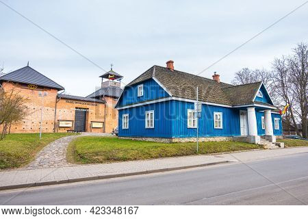 Trakai, Lithuania - February 16, 2020: The Trakai History Museum And Old Post Office Building In Tra
