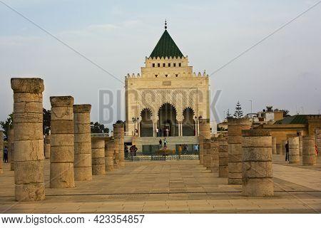 Rabat, Morocco. 25 September 2017. The Mausoleum Of Mohammed V  In Rabat.
