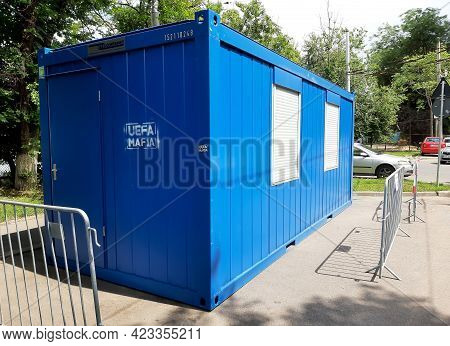 Bucharest, Romania - June 08, 2021: Uefa Mafia Message Is Painted On A Container Located On One Of T