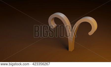 Zodiac Symbol  Aries Signs 3d Rendering Zodiac Symbol  Aries Signs 3d Rendering