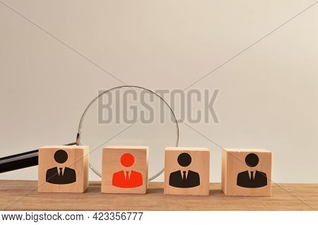 Headhunting And Choosing Good Employee Concept. Staff Recruitment