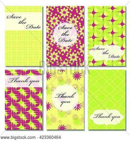 Vintage Vector Card Templates. Can Be Used For Save The Date, Baby Shower, Mothers Day, Valentines D