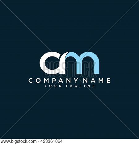 Am Or Ma Letter Logo Design Template Vector