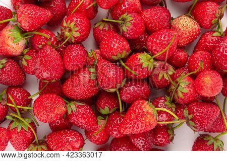 Fresh Strawberries Isolated On A White Background