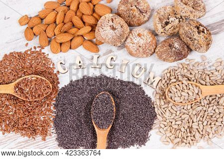 Ingredients Or Products Containing Calcium And Dietary Fiber, Natural Sources Of Minerals, Healthy L