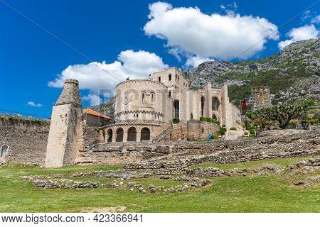 Kruja, Kroja, Kruja, Kruj, Krujë - Skenderbeg castle and museum in town and a municipality in north central Albania