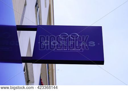 Toulouse , Occitanie France - 06 06 2021 : Corfias Optic Boutique Logo Brand And Shop Sign Text Stor