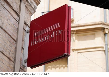 Toulouse , Occitanie France - 06 06 2021 : Histoire D'or Logo Brand Fashion Shop And Text Sign Store