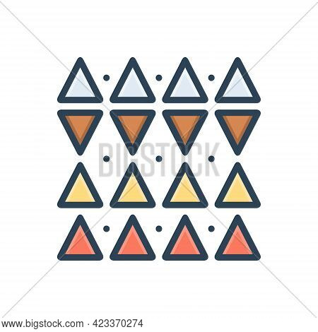 Color Illustration Icon For Discrepancies Shape Triangle Pattern  Opposite