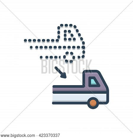 Color Illustration Icon For Displace Remove Reshuffle Shifting Transposition Transferal