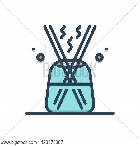 Color Illustration Icon For Diffuser Extender Amplifier Mixing