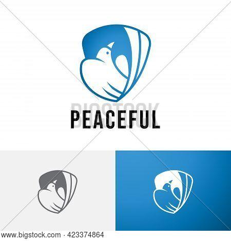 Serenity Purity Peaceful Dove Pigeon Bird Clean Logo