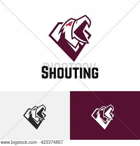 Shouting Screaming Eagle Hawk Bird Head Game Logo
