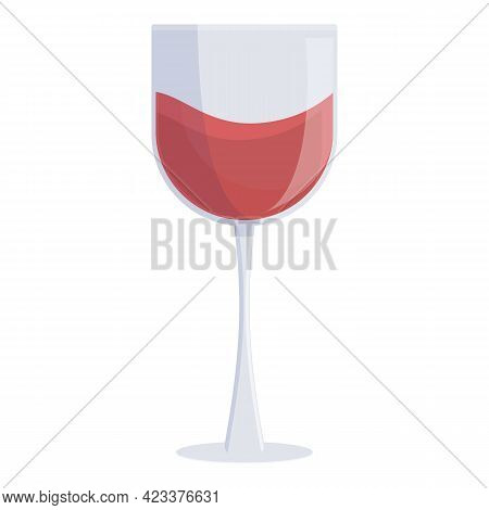 First Class Travel Wine Glass Icon. Cartoon Of First Class Travel Wine Glass Vector Icon For Web Des