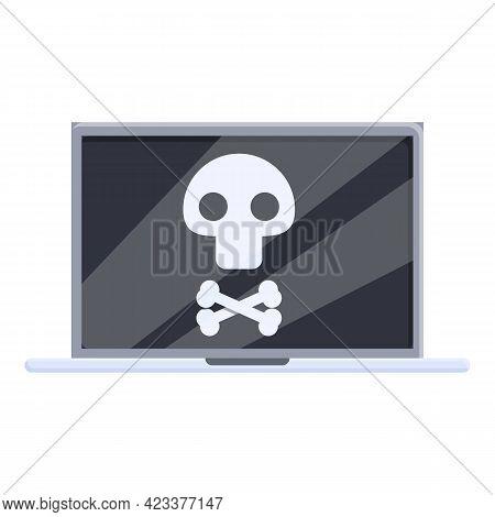 Broken Laptop Repair Icon. Cartoon Of Broken Laptop Repair Vector Icon For Web Design Isolated On Wh