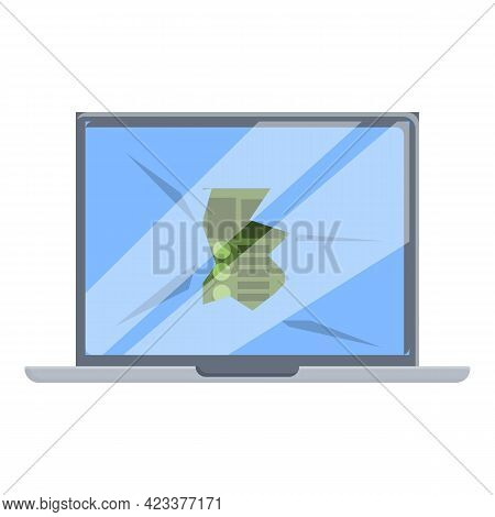 Display Laptop Repair Icon. Cartoon Of Display Laptop Repair Vector Icon For Web Design Isolated On