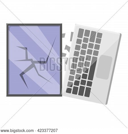 Parts Laptop Repair Icon. Cartoon Of Parts Laptop Repair Vector Icon For Web Design Isolated On Whit