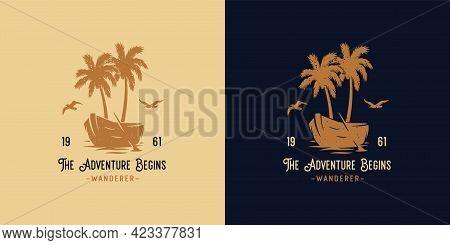Wanderer Travel. Tropical Summer Surfing For Print