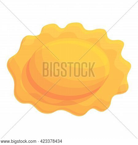 Boiled Ravioli Icon. Cartoon Of Boiled Ravioli Vector Icon For Web Design Isolated On White Backgrou