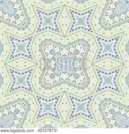 African Repeating Ornament Vector Design. Vintage Geometric Texture. Ceramic Print In Ethnic Style.