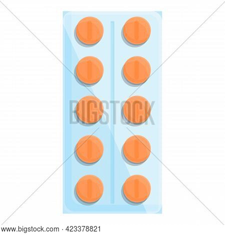 Tablets From First Aid Kit Icon. Cartoon Of Tablets From First Aid Kit Vector Icon For Web Design Is