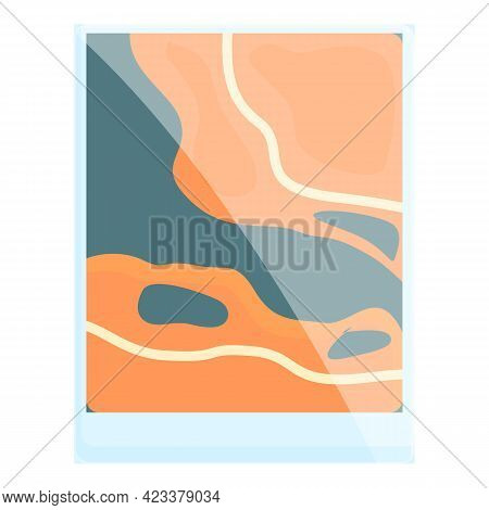 Hiking Map Icon. Cartoon Of Hiking Map Vector Icon For Web Design Isolated On White Background