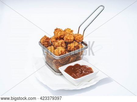 Ration Of Balls Stuffed With Cheese And Chicken