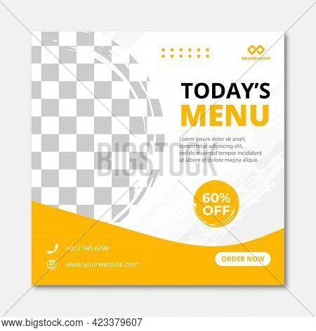 Food Social Media Post Design Template Premium Vector