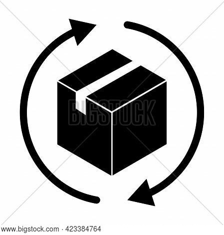 Return Box Icon Vector Delivery Shipping Concept For Web, Banner, Poster, Card, Brochure, Wallpaper