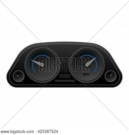 Car Dashboard Icon. Cartoon Of Car Dashboard Vector Icon For Web Design Isolated On White Background