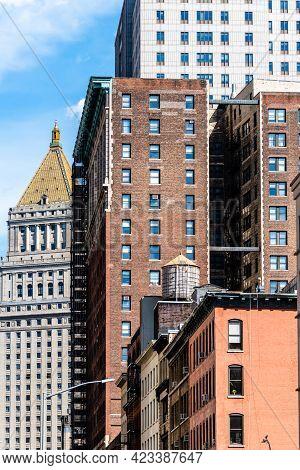 Cityscape Of The Neighborhood Of Tribeca In Manhattan, New York