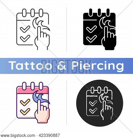 No Booking Required Icon. Tattoo Session In Professional Salon. Contact Tattoo Masters. Getting New