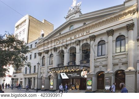 London, Westminster / United Kingdom - September 20th 2020 : The Exterior Of The Famous Theatre, Lon