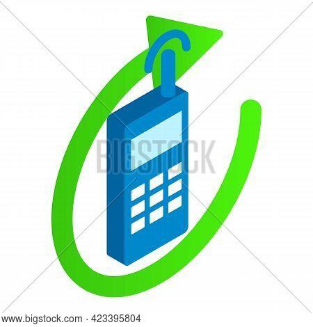 Radio Communication Icon. Isometric Illustration Of Radio Communication Vector Icon For Web