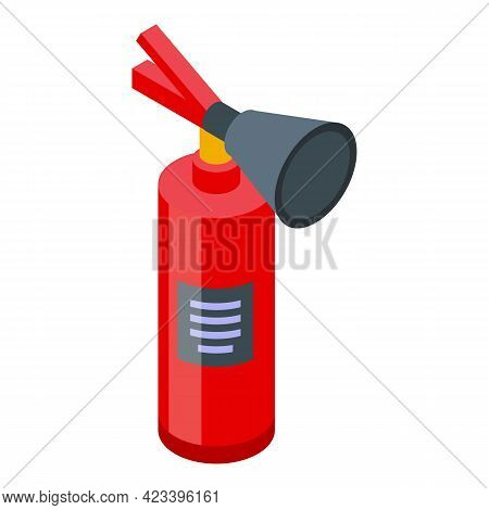 Fire Extinguisher Icon. Isometric Of Fire Extinguisher Vector Icon For Web Design Isolated On White