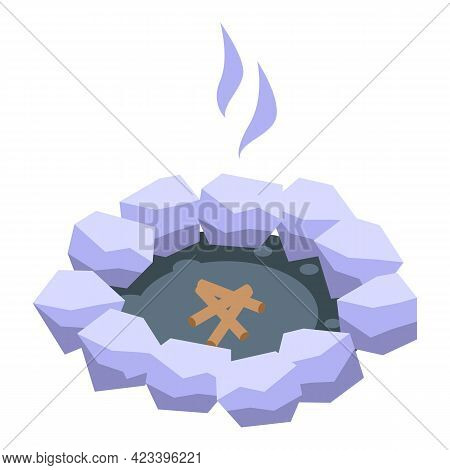 Making Fire Icon. Isometric Of Making Fire Vector Icon For Web Design Isolated On White Background